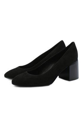 Женская замшевые туфли CASADEI черного цвета, арт. 1F622N06THCAM0S9000 | Фото 1