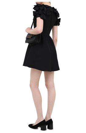 Женская замшевые туфли CASADEI черного цвета, арт. 1F622N06THCAM0S9000 | Фото 2
