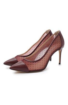 Женская туфли julia CASADEI бордового цвета, арт. 1F683R0801T01783805 | Фото 1