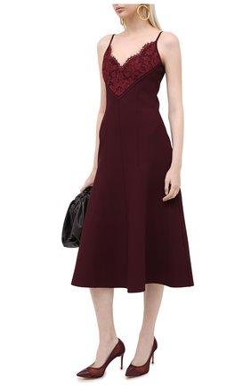 Женская туфли julia CASADEI бордового цвета, арт. 1F683R0801T01783805 | Фото 2