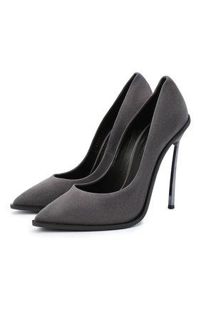 Женская замшевые туфли maxi blade CASADEI серого цвета, арт. 1F700R120MZCAM09204 | Фото 1