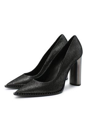 Женская кожаные туфли CASADEI серого цвета, арт. 1F703R1001C08749202 | Фото 1