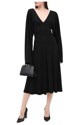 Женская кожаные туфли CASADEI серого цвета, арт. 1F703R1001C08749202 | Фото 2