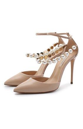 Женская кожаные туфли CASADEI бежевого цвета, арт. 1H779R1001C08602801 | Фото 1