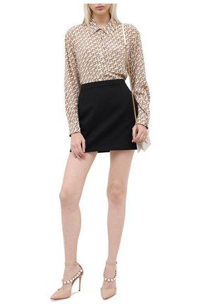 Женская кожаные туфли CASADEI бежевого цвета, арт. 1H779R1001C08602801 | Фото 2