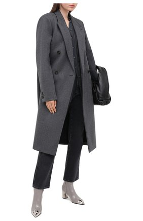 Женские кожаные ботильоны CASADEI серого цвета, арт. 1Q903N060GC08699306 | Фото 2