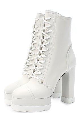 Женские кожаные ботильоны CASADEI белого цвета, арт. 1R133N1201L0VEC9999 | Фото 1