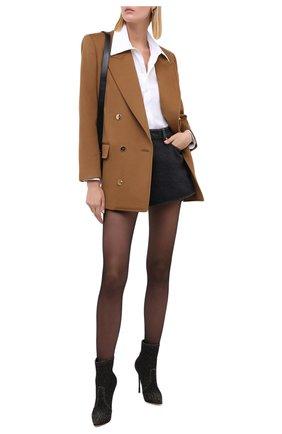 Женские кожаные ботильоны blade CASADEI коричневого цвета, арт. 1R665E120TECHIDZZZZ | Фото 2