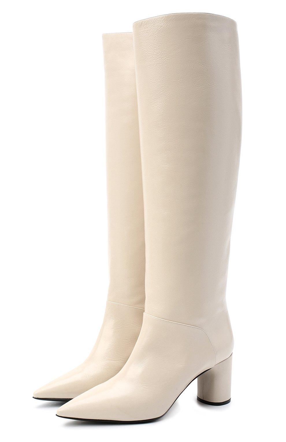 Женские кожаные сапоги CASADEI белого цвета, арт. 1S034N06018SENS3217   Фото 1