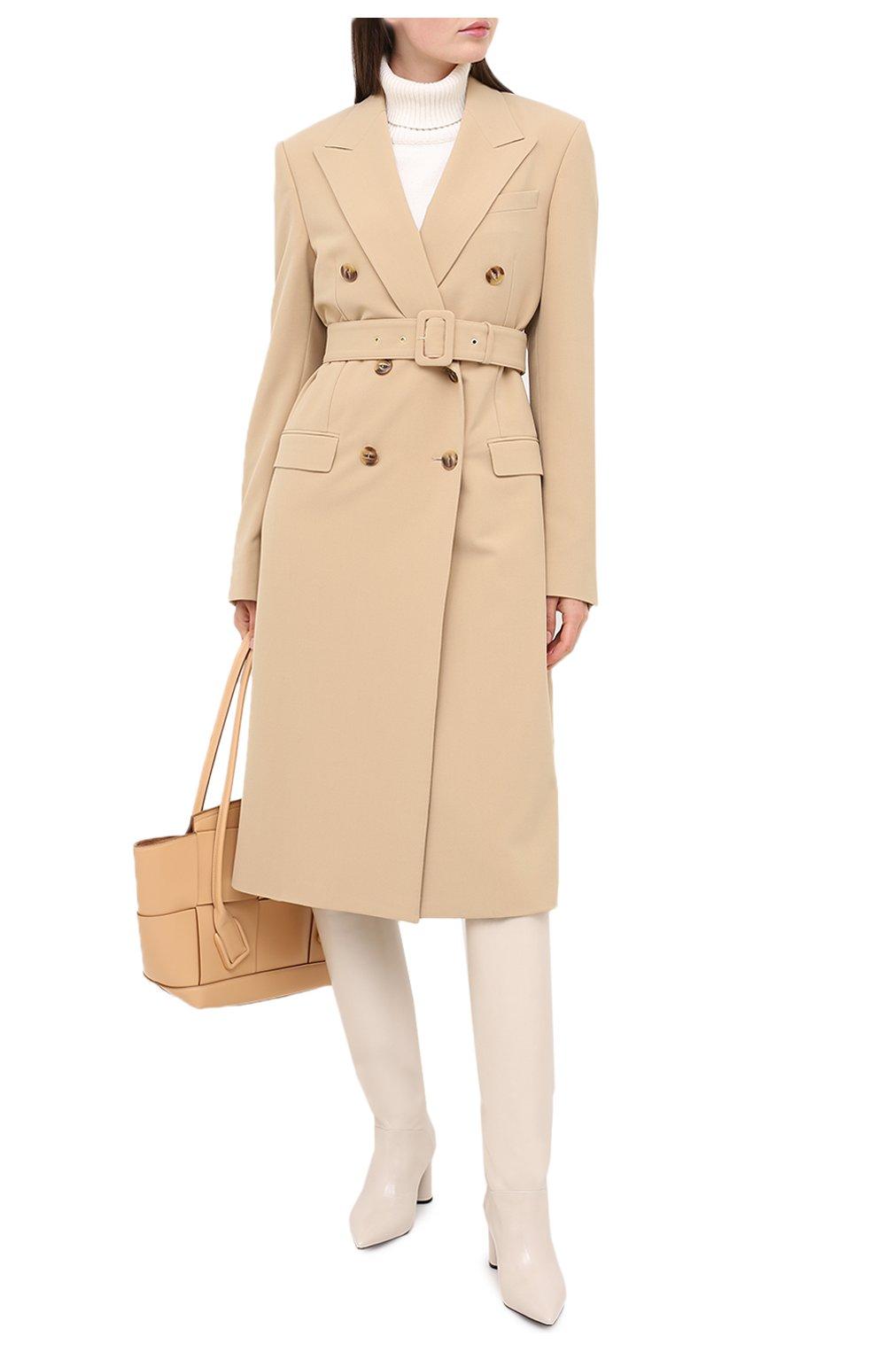 Женские кожаные сапоги CASADEI белого цвета, арт. 1S034N06018SENS3217   Фото 2