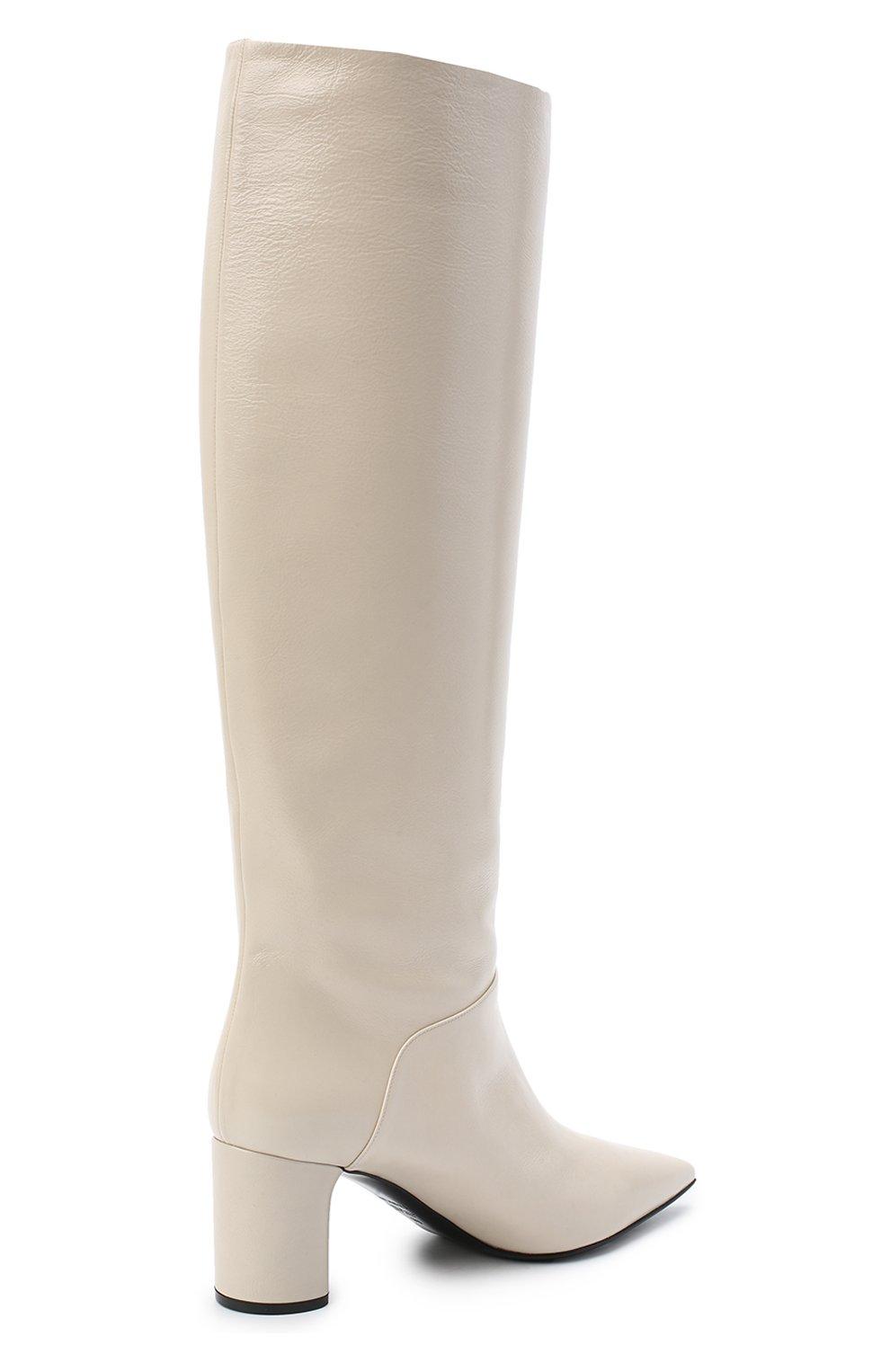Женские кожаные сапоги CASADEI белого цвета, арт. 1S034N06018SENS3217   Фото 4