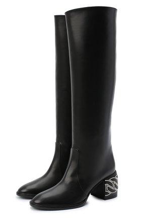Женские кожаные сапоги CASADEI черного цвета, арт. 1S060R0601C08499000 | Фото 1