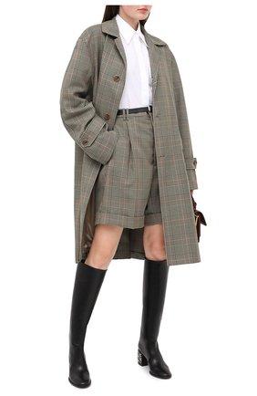 Женские кожаные сапоги CASADEI черного цвета, арт. 1S060R0601C08499000 | Фото 2