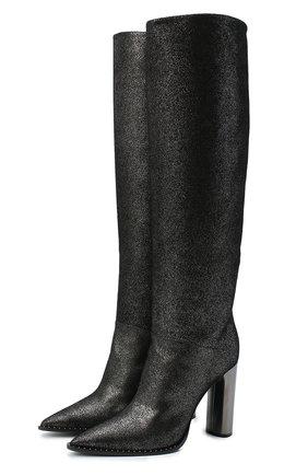 Женские кожаные сапоги CASADEI серого цвета, арт. 1S071R1001C08749202 | Фото 1