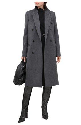 Женские кожаные сапоги CASADEI серого цвета, арт. 1S071R1001C08749202 | Фото 2