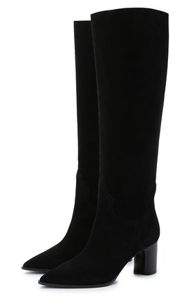 Женские замшевые сапоги CASADEI черного цвета, арт. 1S075R0601KENTU9000 | Фото 1