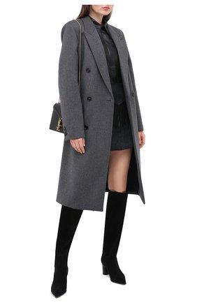 Женские замшевые сапоги CASADEI черного цвета, арт. 1S075R0601KENTU9000 | Фото 2