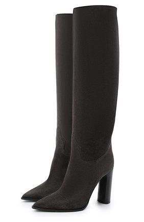 Женские замшевые сапоги CASADEI серого цвета, арт. 1S075R1001KENTU9204 | Фото 1