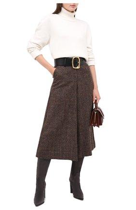 Женские замшевые сапоги CASADEI серого цвета, арт. 1S075R1001KENTU9204 | Фото 2