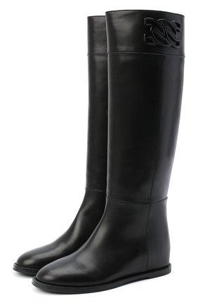 Женские кожаные сапоги CASADEI черного цвета, арт. 1S096R0301C10639000 | Фото 1