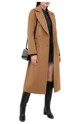 Женские кожаные сапоги CASADEI черного цвета, арт. 1S120R060G8SENS9000 | Фото 2