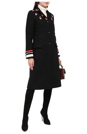Женские замшевые ботфорты blade CASADEI черного цвета, арт. 1T000D125HHCAM09000 | Фото 2