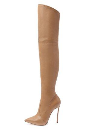 Женские кожаные ботфорты blade CASADEI бежевого цвета, арт. 1T000D125HHNAGU3113 | Фото 3