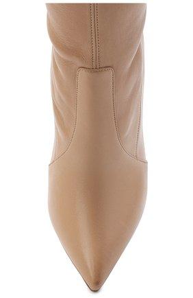 Женские кожаные ботфорты blade CASADEI бежевого цвета, арт. 1T000D125HHNAGU3113 | Фото 5
