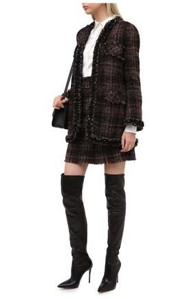 Женские кожаные ботфорты julia CASADEI черного цвета, арт. 1T853E1001T00539000 | Фото 2