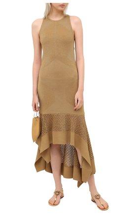 Женские кожаные сандалии DOLCE & GABBANA золотого цвета, арт. CQ0353/A1016 | Фото 2