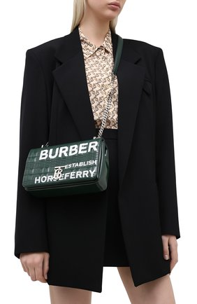 Женская сумка lola small BURBERRY темно-зеленого цвета, арт. 8031620 | Фото 2