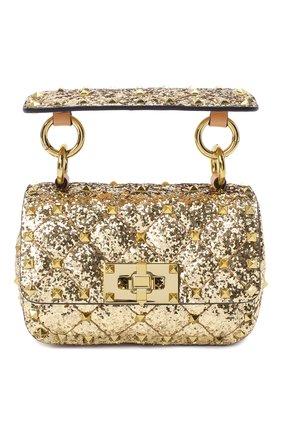 Женская сумка valentino garavani rockstud spike VALENTINO золотого цвета, арт. UW2B0G36/LVR | Фото 1