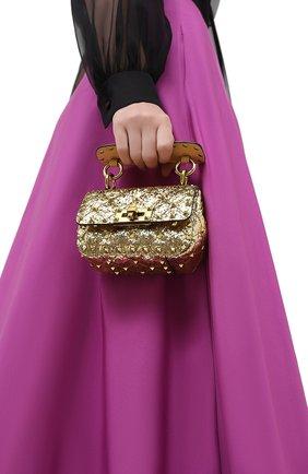 Женская сумка valentino garavani rockstud spike VALENTINO золотого цвета, арт. UW2B0G36/LVR | Фото 2