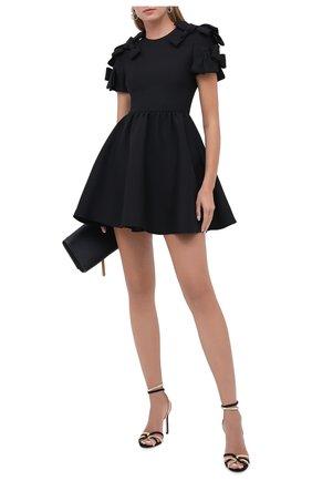 Женское платье из шерсти и шелка VALENTINO черного цвета, арт. UB3VAT911CF   Фото 2
