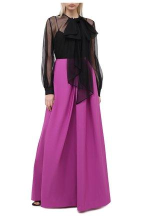 Женская юбка-макси VALENTINO фуксия цвета, арт. UB3RA6304H2   Фото 2