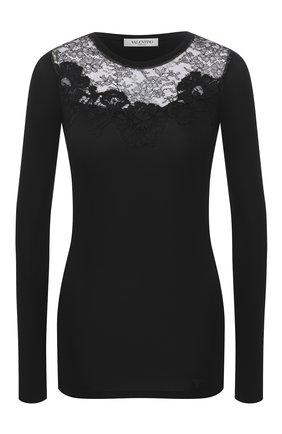 Женская пуловер из вискозы VALENTINO черного цвета, арт. UB3MG08A5M0 | Фото 1