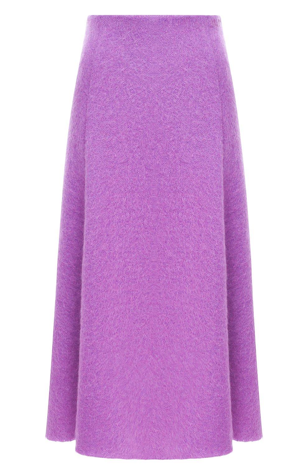 Женская шерстяная юбка VALENTINO фуксия цвета, арт. UB3KG01R5P2 | Фото 1