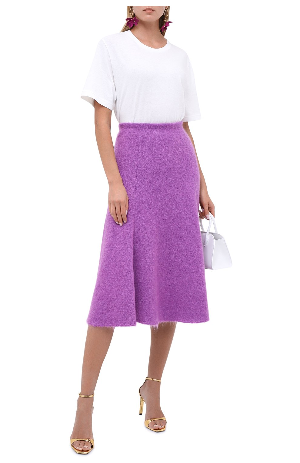 Женская шерстяная юбка VALENTINO фуксия цвета, арт. UB3KG01R5P2 | Фото 2