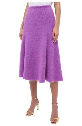 Женская шерстяная юбка VALENTINO фуксия цвета, арт. UB3KG01R5P2 | Фото 3