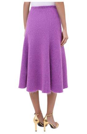 Женская шерстяная юбка VALENTINO фуксия цвета, арт. UB3KG01R5P2 | Фото 4