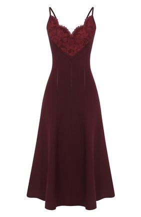 Женское платье из вискозы VALENTINO бордового цвета, арт. UB3KD04N5RV | Фото 1