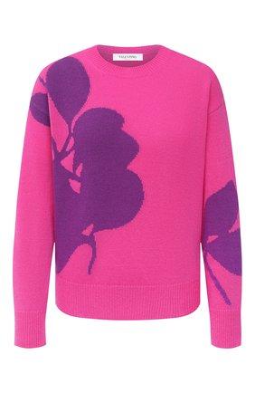 Женская пуловер из шерсти и кашемира VALENTINO фуксия цвета, арт. UB3KCB595UP | Фото 1