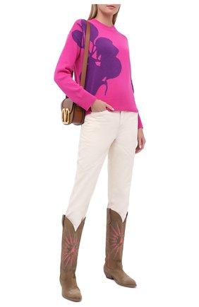 Женская пуловер из шерсти и кашемира VALENTINO фуксия цвета, арт. UB3KCB595UP | Фото 2