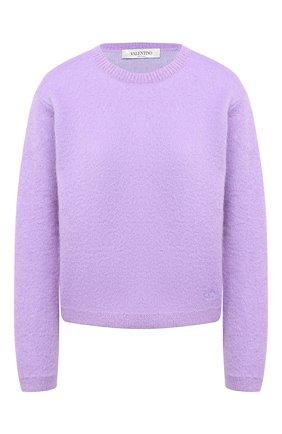 Женская шерстяной пуловер VALENTINO сиреневого цвета, арт. UB3KC16H5P2 | Фото 1
