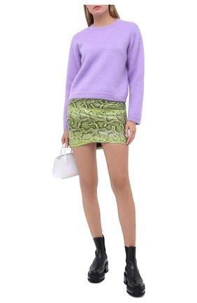 Женская шерстяной пуловер VALENTINO сиреневого цвета, арт. UB3KC16H5P2 | Фото 2