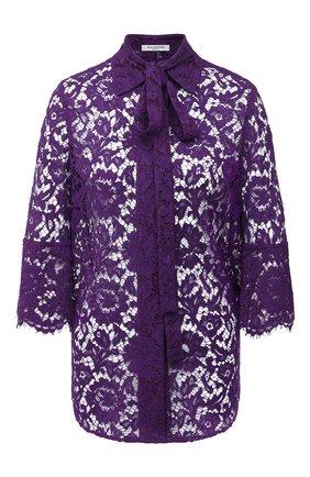 Женская блузка из вискозы и хлопка VALENTINO фиолетового цвета, арт. UB3AB18R1EC   Фото 1