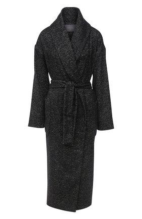 Женское шерстяное пальто LORENA ANTONIAZZI черного цвета, арт. A2007CP057/3295   Фото 1