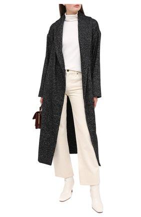 Женское шерстяное пальто LORENA ANTONIAZZI черного цвета, арт. A2007CP057/3295   Фото 2
