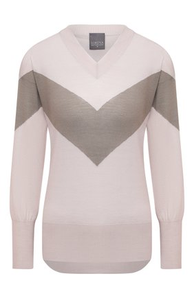 Женский шерстяной пуловер LORENA ANTONIAZZI бежевого цвета, арт. A20109VM012/247 | Фото 1