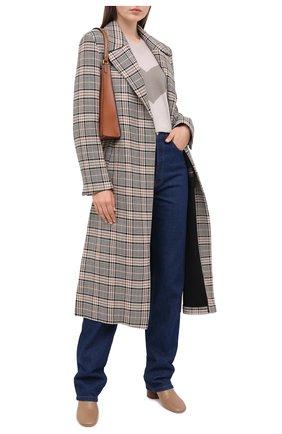Женский шерстяной пуловер LORENA ANTONIAZZI бежевого цвета, арт. A20109VM012/247 | Фото 2